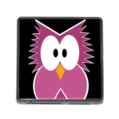 Pink owl Memory Card Reader (Square)