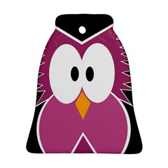 Pink owl Ornament (Bell)