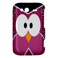 Pink owl HTC Wildfire S A510e Hardshell Case