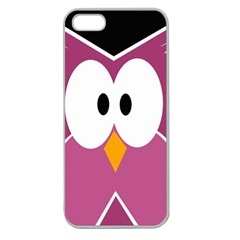 Pink owl Apple Seamless iPhone 5 Case (Clear)