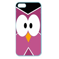 Pink owl Apple Seamless iPhone 5 Case (Color)