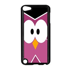 Pink owl Apple iPod Touch 5 Case (Black)