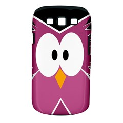 Pink owl Samsung Galaxy S III Classic Hardshell Case (PC+Silicone)