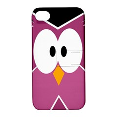 Pink owl Apple iPhone 4/4S Hardshell Case with Stand