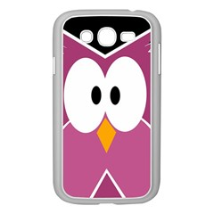 Pink owl Samsung Galaxy Grand DUOS I9082 Case (White)