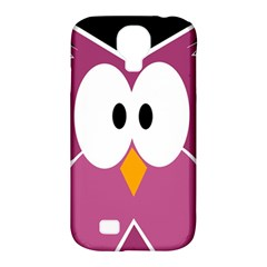 Pink owl Samsung Galaxy S4 Classic Hardshell Case (PC+Silicone)