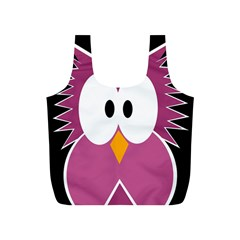Pink owl Full Print Recycle Bags (S)