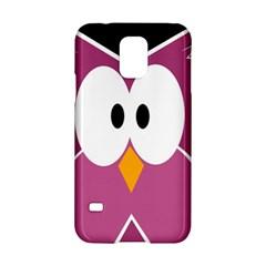 Pink owl Samsung Galaxy S5 Hardshell Case