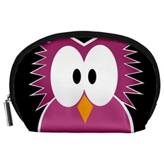 Pink owl Accessory Pouches (Large)