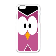 Pink owl Apple iPhone 6/6S White Enamel Case