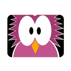 Pink owl Double Sided Flano Blanket (Mini)