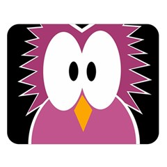 Pink owl Double Sided Flano Blanket (Large)