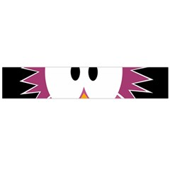 Pink owl Flano Scarf (Large)