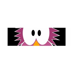 Pink owl Satin Scarf (Oblong)