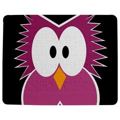 Pink owl Jigsaw Puzzle Photo Stand (Rectangular)