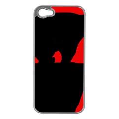 Bear Apple iPhone 5 Case (Silver)