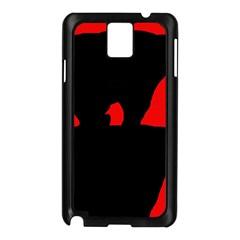 Bear Samsung Galaxy Note 3 N9005 Case (Black)