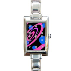 Pink and blue twist Rectangle Italian Charm Watch