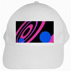 Pink and blue twist White Cap