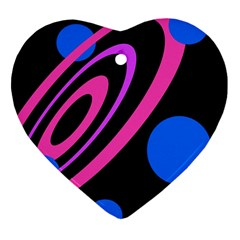 Pink and blue twist Ornament (Heart)