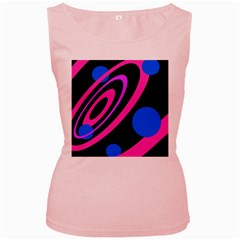 Pink and blue twist Women s Pink Tank Top