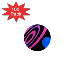 Pink and blue twist 1  Mini Magnets (100 pack)