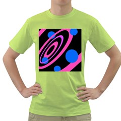 Pink and blue twist Green T-Shirt