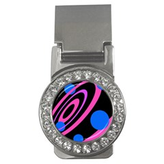 Pink and blue twist Money Clips (CZ)