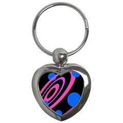 Pink and blue twist Key Chains (Heart)
