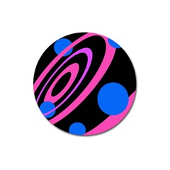 Pink and blue twist Magnet 3  (Round)