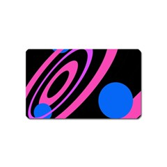 Pink and blue twist Magnet (Name Card)