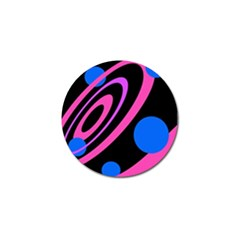 Pink and blue twist Golf Ball Marker (4 pack)