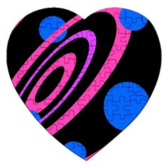 Pink and blue twist Jigsaw Puzzle (Heart)