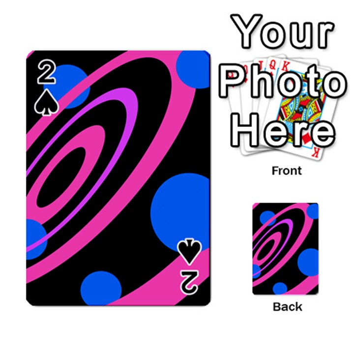 Pink and blue twist Playing Cards 54 Designs