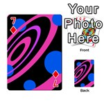 Pink and blue twist Playing Cards 54 Designs  Front - Diamond7