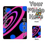 Pink and blue twist Playing Cards 54 Designs  Front - Joker1