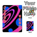 Pink and blue twist Playing Cards 54 Designs  Front - Joker2