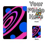 Pink and blue twist Playing Cards 54 Designs  Back
