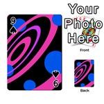 Pink and blue twist Playing Cards 54 Designs  Front - Spade9