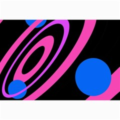 Pink and blue twist Collage Prints