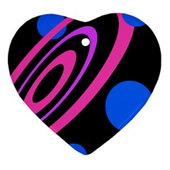 Pink and blue twist Heart Ornament (2 Sides)