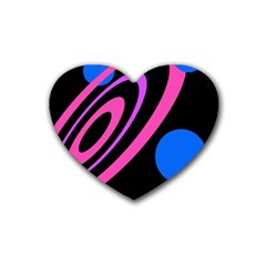 Pink and blue twist Heart Coaster (4 pack)