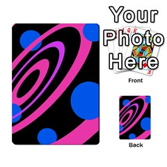 Pink and blue twist Multi-purpose Cards (Rectangle)