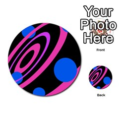 Pink and blue twist Multi-purpose Cards (Round)