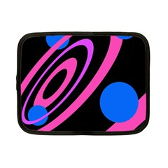 Pink and blue twist Netbook Case (Small)
