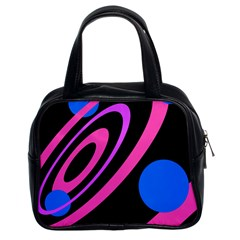 Pink and blue twist Classic Handbags (2 Sides)