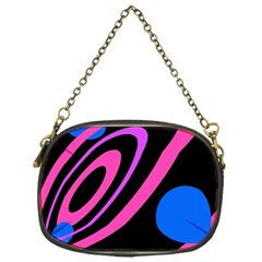Pink and blue twist Chain Purses (One Side)