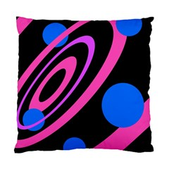 Pink and blue twist Standard Cushion Case (One Side)