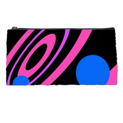Pink and blue twist Pencil Cases