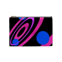 Pink and blue twist Cosmetic Bag (Medium)